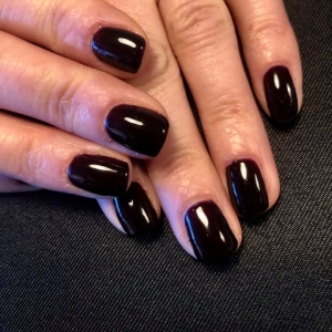 cnd shellac blackpool black nails