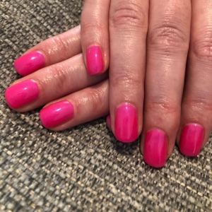 cnd shellac tutti frutti pink nails