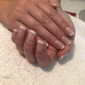 cnd shellac french white tip nails