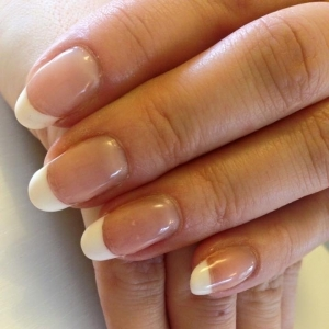 cnd shellac french white tips nails