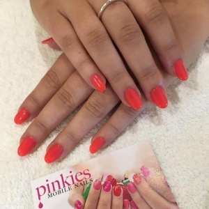 cnd shellac tropix red nails